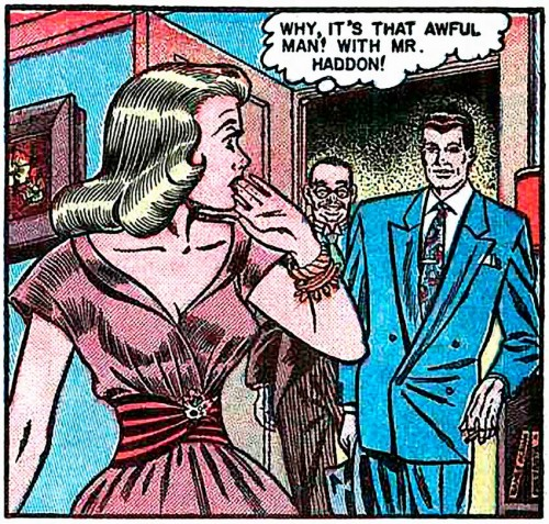 "Art by Bill Ward from the story ""I Danced with Heartbreak"" in DIARY LOVES #9, 1951."