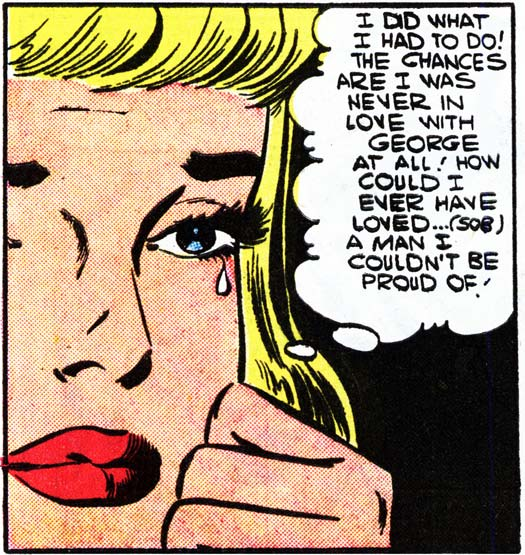 "Art by Charles Nicholas & Vince Alascia from the story ""Love Him...Love What He Does"" in FIRST KISS #2, 1958,"
