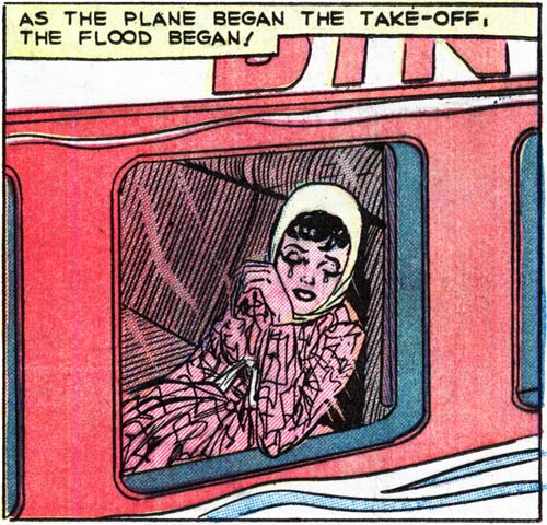 "Art by Vince Colletta from the story ""Lucky Liz"" in FIRST KISS #9, 1959."