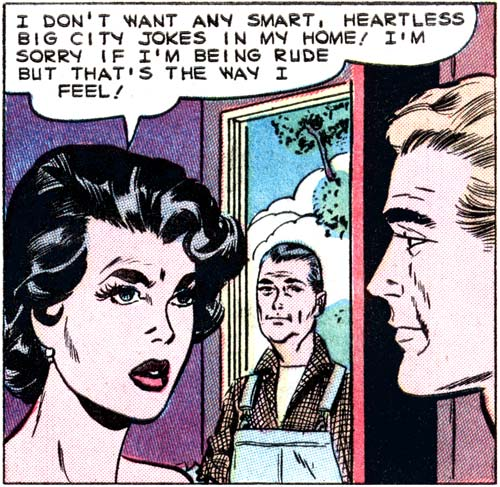"Art by Vince Colletta in the story ""Lucky Liz"" from FIRST KISS #9, 1959."