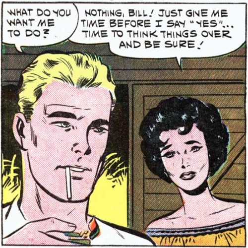 "Art by Vince Colletta Studio from the story ""To Find My Love"" in FIRST KISS #16, 1960."