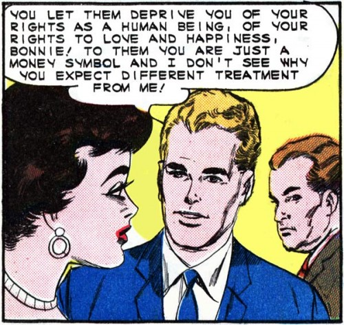 "Art by Vince Colletta Studio from the story ""That Lonely Sound"" in FIRST KISS #36, Feb. 1964."
