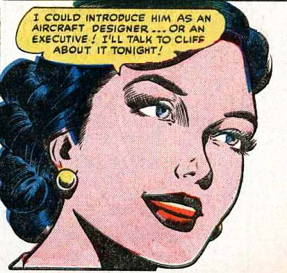 "Art by John Forte and Bill Ward from the story ""Reunion with Romance"" from LOVE LETTERS #21, JUNE 1952."
