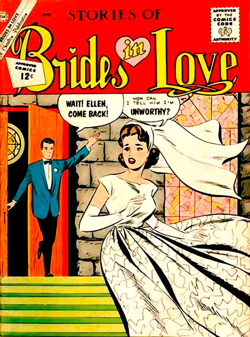 Artists unknown (although the Grand Comics Database thinks it may be Joe Sinnott and Vince Colletta.) BRIDES IN LOVE #29, 1962.