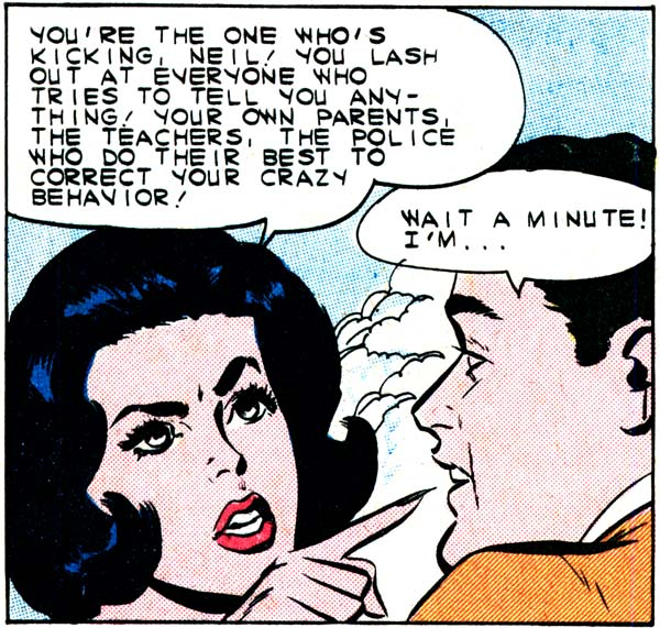 "Art by Vince Colletta Studio from the story ""My Outlaw Lover"" in FIRST KISS #20, 1961."