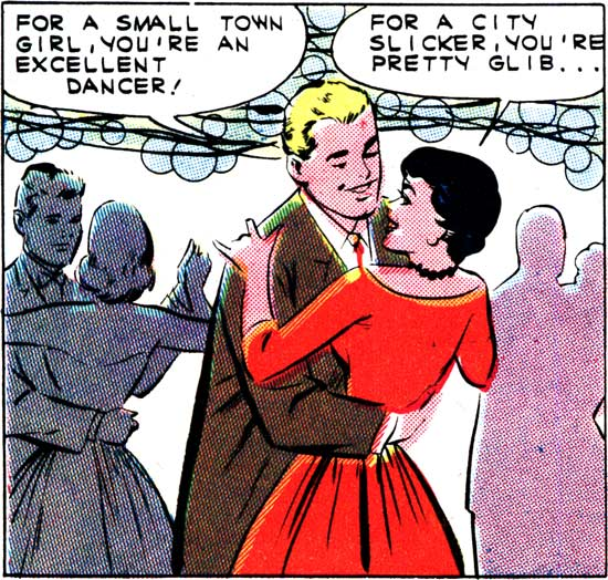 "Art by Vince Colletta Studio in the story ""A Moment to Remember"" in FIRST KISS #21, 1961."