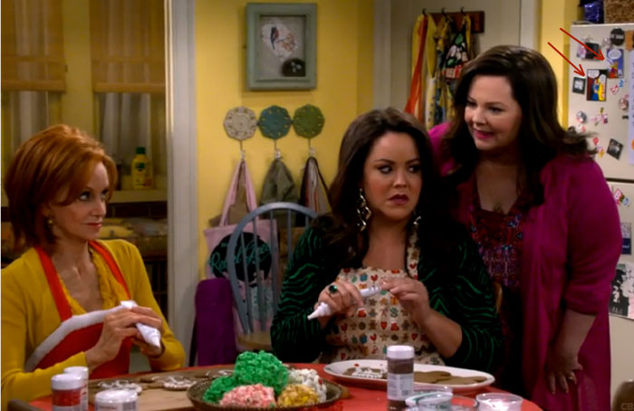 L-R: Swoosie Kurtz, Katy Mixon and Melissa McCarthy try to steal the scene as my Last Kiss magnets (upper right) star in MIKE & MOLLY.