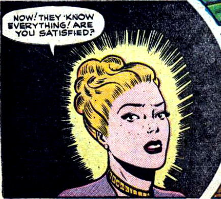"Artist unknown. From the story ""Censored"" in ALL ROMANCE #2 (Comic Media), 1951."