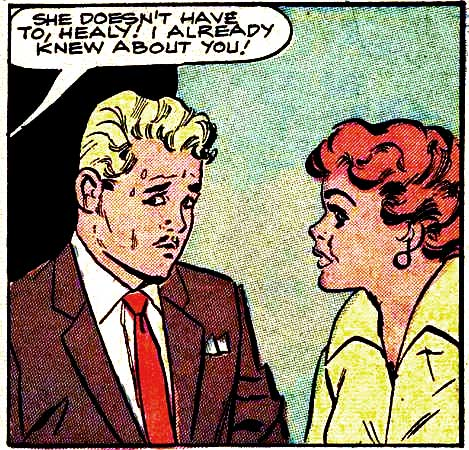 Inks by Vince Colletta from BRIDES IN LOVE #10, 1958.