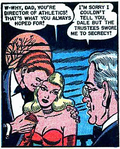 "Art by Bill Ward in the story ""Rapture at Homecoming Time"" in DIARY LOVES #8, 1951."