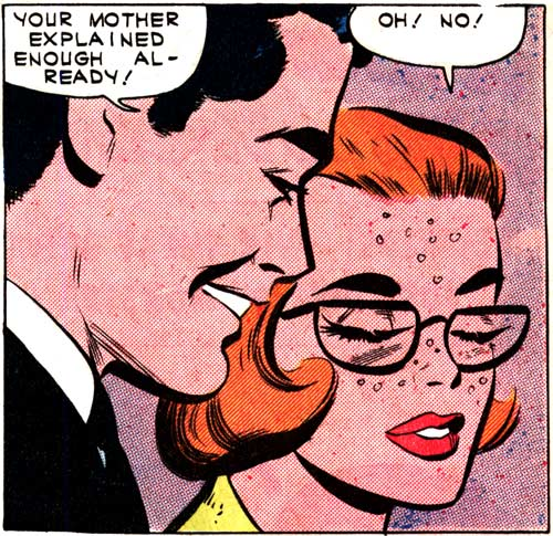 "Art by Vince Colletta Studio from the story ""Return"" in FIRST KISS #22, 1961."