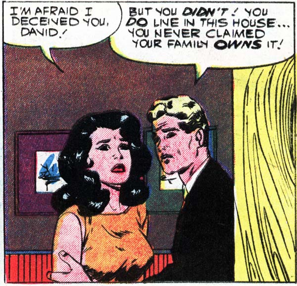"Art by Vince Colletta Studio from the story ""Girl Meets Boy!"" from FIRST KISS #11, 1959."