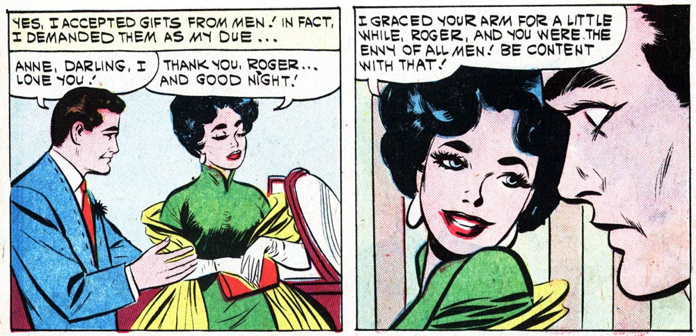 "Original art by the Vince Colletta Studio from the story ""The Face of Love"" in FIRST KISS #19, 1961."