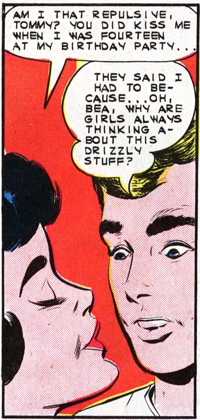 "Art by Vince Colletta Studio from the story ""Dream Along with Me"" in FIRST KISS #32, 1963."