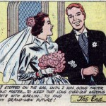 "Art by Irv Novick from the story ""My Borrowed Kisses"" in BEST ROMANCE #7, 1952."