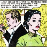 """Art by Dick Giordano from the story """"The Serious Type"""" from FIRST KISS #13, 1960."""