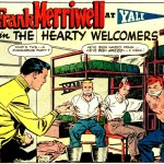 "Art by Dick Giordano and Vince Alascia in the story ""The Hearty Welcomers"" from FRANK MERRIWELL AT YALE #1, 1955."