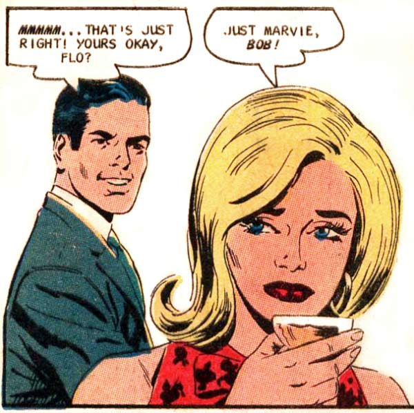 """Art by Charles Nicholas & Vince Alascia from the story """"Formula for Love"""" in CAREER GIRL ROMANCES #45, 1968."""