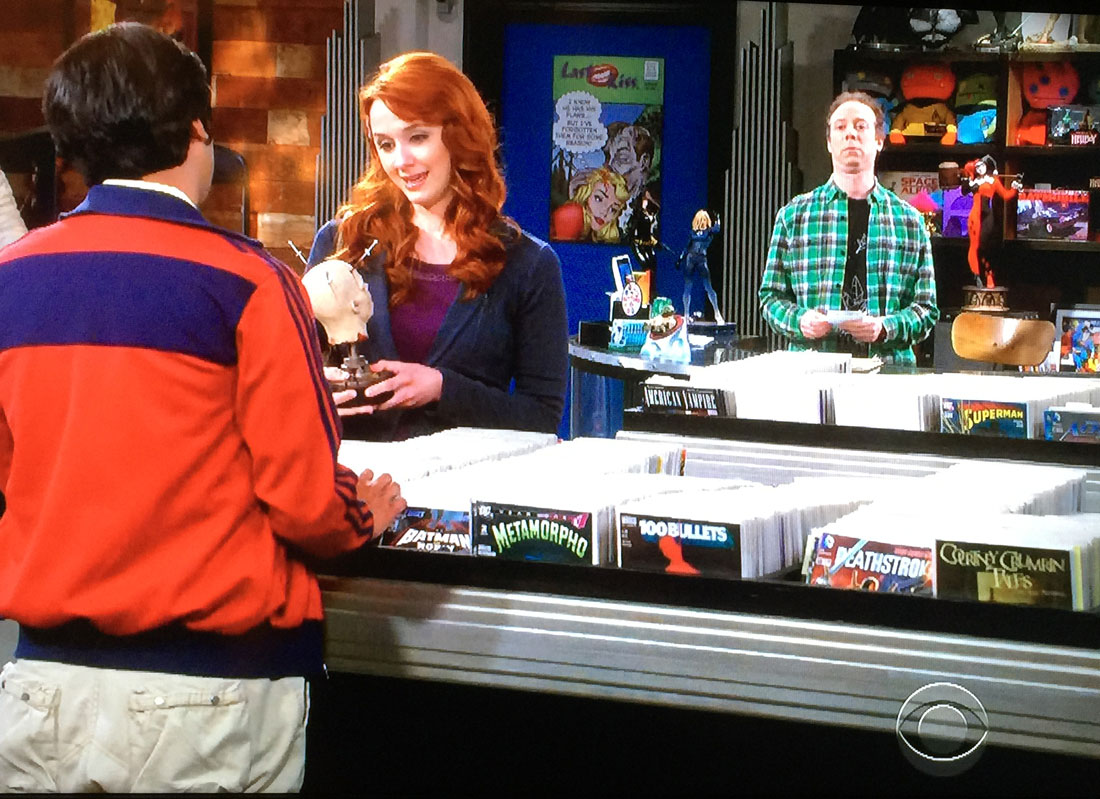 Last Kiss appeared twice on tonight's episode of the Big Bang Theory. See poster in the background.