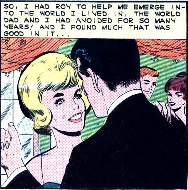 """Original art by the Vince Colletta Studio from the story """"Change of Heart"""" in FIRST KISS #37, 1964."""