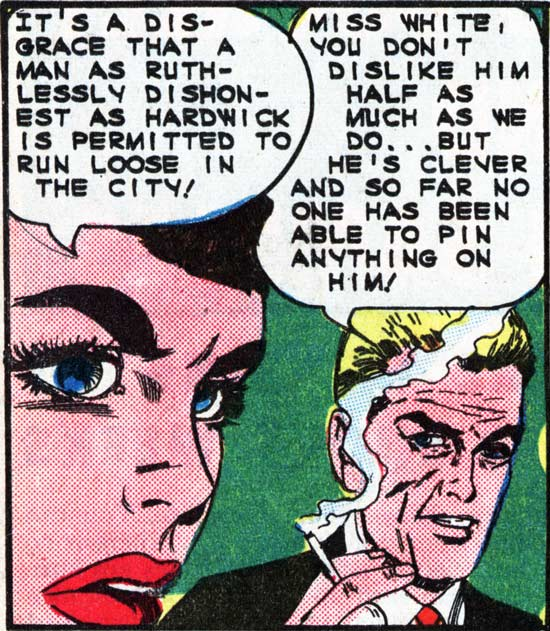 "Art by Vince Colletta Studio from the story ""Condemned"" in FIRST KISS #40, 1965."