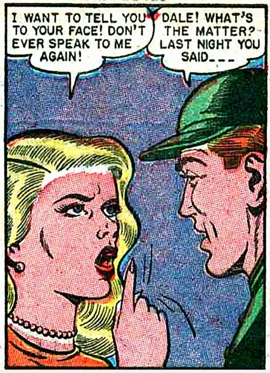 """Art by Bill Ward from the story """"Rapture at Homecoming Time"""" from DIARY LOVES #8, 1951."""