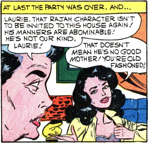 "Art by Vince Colletta Studio from the story ""Playin' It Cool"" in FIRST KISS #12, 1960."