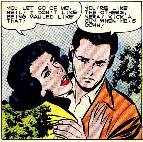 """Art by Vince Colletta Studio from the story """"My Outlaw Lover"""" in FIRST KISS #20."""