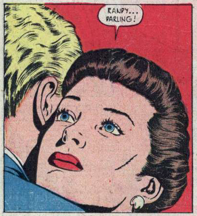 "Art by Sid Greene from the story ""People Will Talk"" in NEW ROMANCES #11, 1952."