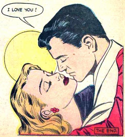 "Art by Ben Brown & David Gantz from the story ""The Faint Heart"" in SORORITY SECRETS #1, 1954."