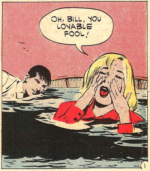 "Inked by Dick Giordano from the story ""My Foolish Heart"" in FIRST KISS #21, 1961."
