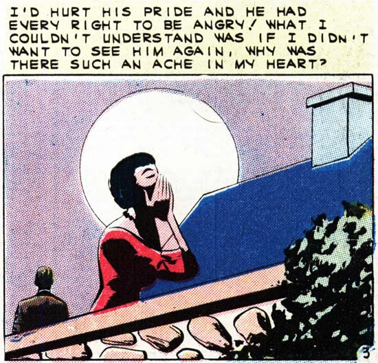 "Art by Vince Colletta Studio from the story ""A Moment to Remember"" in FIRST KISS #21, 1961."