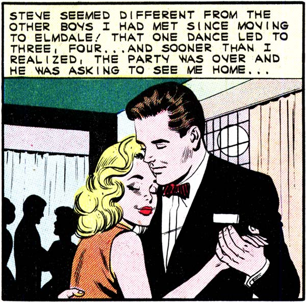 """Art by Dick Giordano from the story """"My Secret"""" in FIRST KISS #27, 1962."""