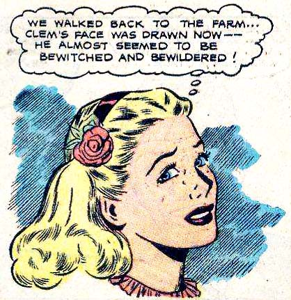 Artist unknown. From GREAT LOVER ROMANCE #16, 1954.