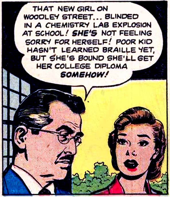 "Art by Nick Cardy for the story ""Good-Time Girl"" in MY REAL LOVE #5, 1952."