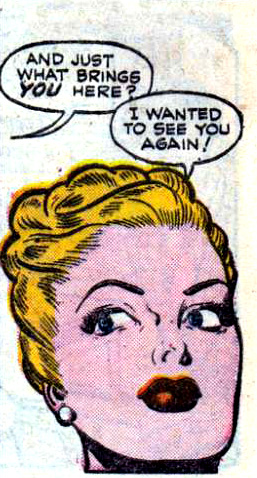 """Artist unknown. From the story """"Censored"""" in ALL-TRUE ROMANCE #2, 1951."""