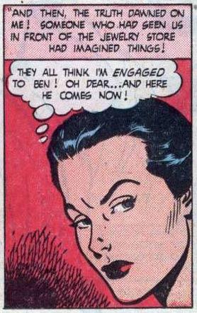 """Art by John Celardo from the story """"I'm Always Yours"""" in BEST ROMANCE #5, 1952."""