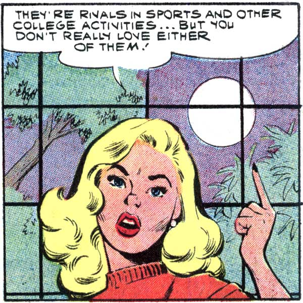 "Art by Dick Giordano from the story ""Fooling with Love"" in FIRST KISS #7, 1959."