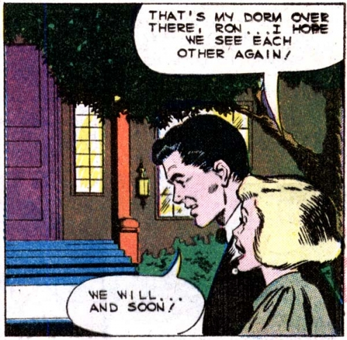 "Art by Dick Giordano from the story ""Heartbreaker"" in FIRST KISS #12, 1960."