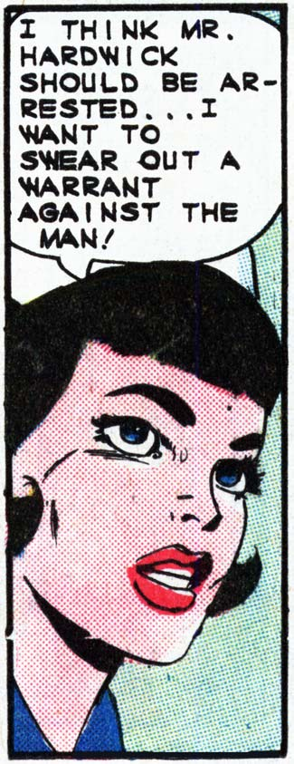 "Art by the Vince Colletta Studio for the story ""Condemned"" in FIRST KISS #40, 1965."