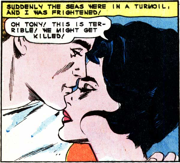 """Art by Vince Colletta from the story """"Involuntary Bride"""" in FIRST KISS #40, 1965."""