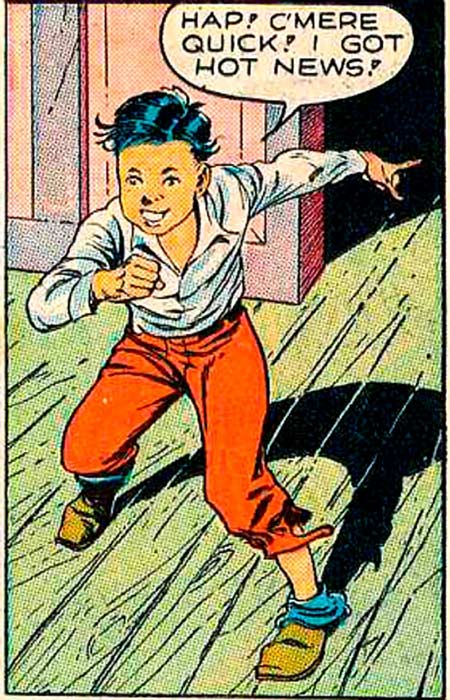 Art by Reed Crandall in SMASH #25, 1941.