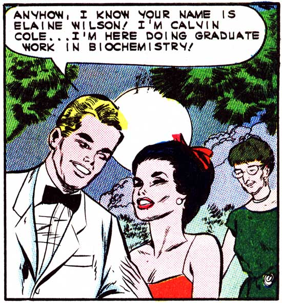 "Art by Vince Colletta Studio in the story ""Loves Lovely Mirage"" in FIRST KISS #36, 1964."