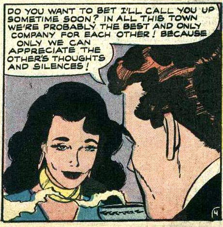 Art by Vince Colletta Studio from BRIDES IN LOVE #9, 1958.