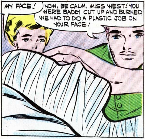 "Original art by Vince Colletta Studio from the story ""The Face of Love"" in FIRST KISS #19, 1961."