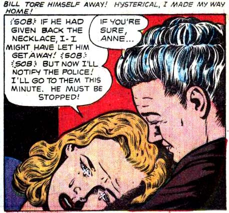 """Artist unknown. From the story """"All That Glitters"""" in Cinderella Love #10, 1952."""