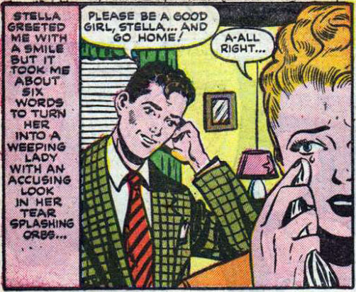 "Artist unknown. From the story ""Censored"" in ALL TRUE ROMANCE #2, 1951."