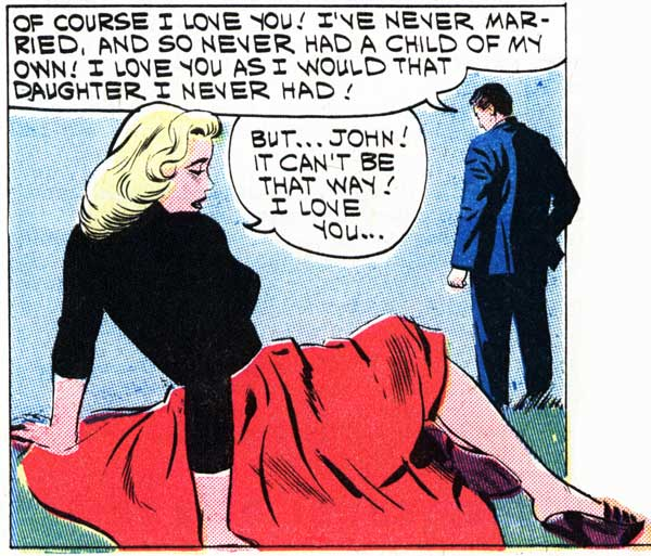 "Penciller unknown. Inked by Dick Giordano. From the story ""My Foolish Heart"" in FIRST KISS #21, 1961."