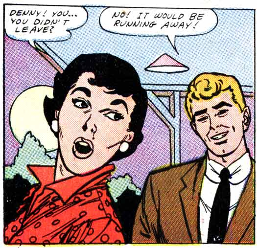 "Art by John Tartaglione from the story ""To Stella with Love"" from FIRST KISS #3, 1958."