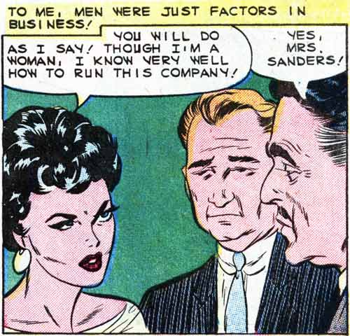 """Artist unknown. From the story """"You Can Never Tell"""" from FIRST KISS #10, 1959."""